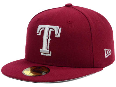 Texas Rangers New Era MLB Cardinal Gray 59FIFTY Cap
