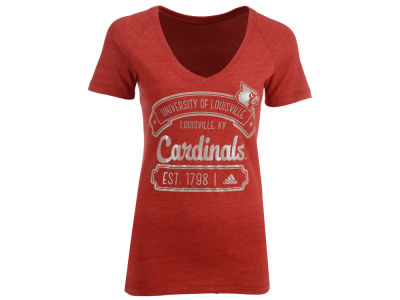 Louisville Cardinals adidas NCAA Women's Oil Outline Banner T-Shirt