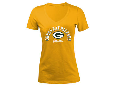 Green Bay Packers 5th & Ocean NFL Women's Checkdown LE T-Shirt