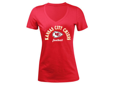 Kansas City Chiefs 5th & Ocean NFL Women's Checkdown LE T-Shirt