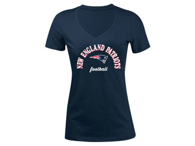 New England Patriots 5th & Ocean NFL Women's Checkdown LE T-Shirt