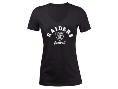 Oakland Raiders 5th & Ocean NFL Women's Checkdown LE T-Shirt