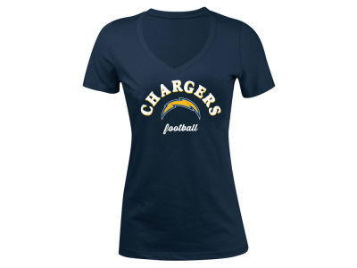 San Diego Chargers 5th & Ocean NFL Women's Checkdown LE T-Shirt