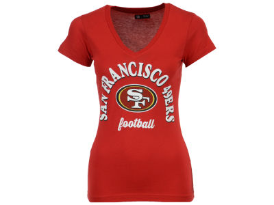 San Francisco 49ers 5th & Ocean NFL Women's Checkdown LE T-Shirt