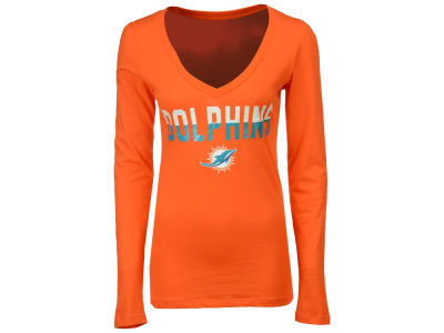 Miami Dolphins 5th & Ocean NFL Women's Huddle Long Sleeve T-Shirt