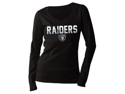Oakland Raiders 5th & Ocean NFL Women's Huddle Long Sleeve T-Shirt
