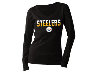 Pittsburgh Steelers 5th & Ocean NFL Women's Huddle Long Sleeve T-Shirt