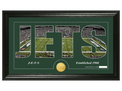New York Jets Silhouette Word Art Photo Mint
