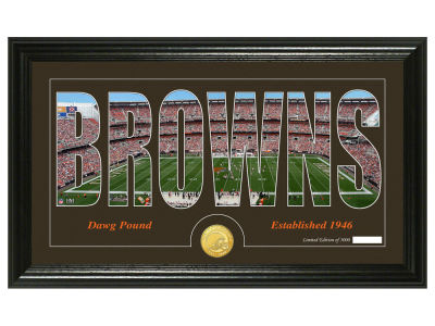 Cleveland Browns Silhouette Word Art Photo Mint