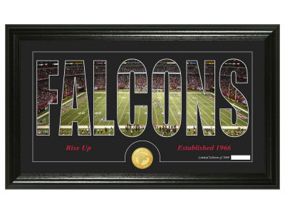 Atlanta Falcons Silhouette Word Art Photo Mint