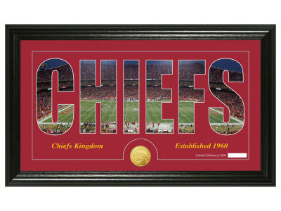 Kansas City Chiefs Silhouette Word Art Photo Mint