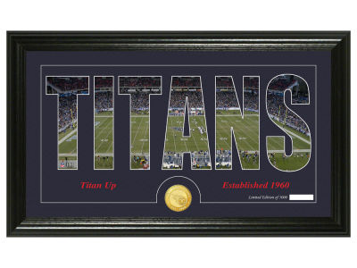 Tennessee Titans Silhouette Word Art Photo Mint
