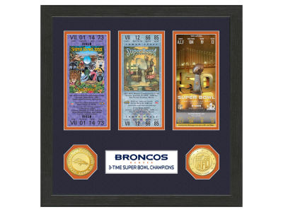 Denver Broncos Ticket Frame
