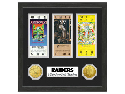 Oakland Raiders Ticket Frame
