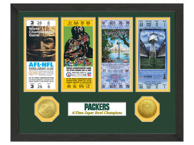 Green Bay Packers Ticket Frame