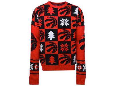 Toronto Raptors NBA Men's Patches 2.0 Ugly Sweater