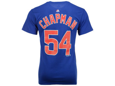 Chicago Cubs Aroldis Chapman Majestic MLB Men's Official Player T-Shirt