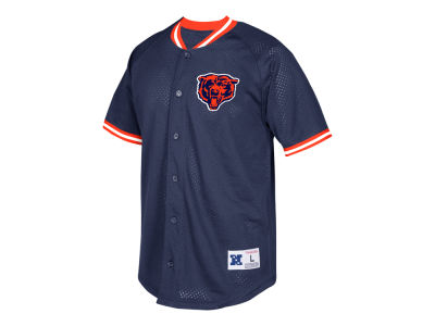 Chicago Bears Mitchell & Ness NFL Men's Seasoned Pro Mesh Button Front Shirt