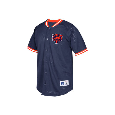 Chicago Bears Mitchell & Ness NFL Men's Seasoned Pro Mesh Button Front Shirt