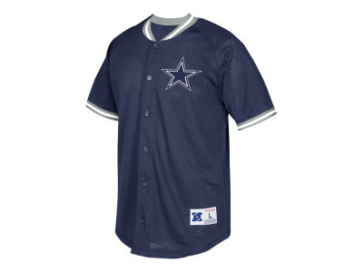 Dallas Cowboys Mitchell & Ness NFL Men's Seasoned Pro Mesh Button Front Shirt