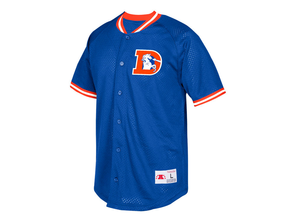 311aab710ab ... up jersey msrp 100 shop denver broncos mitchell ness nfl mens seasoned  pro mesh button front shirt ab1cb 0ce2d ...