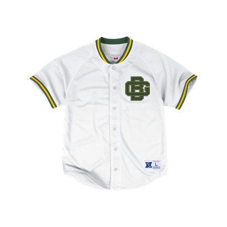 Green Bay Packers Mitchell & Ness NFL Men's Seasoned Pro Mesh Button Front Shirt