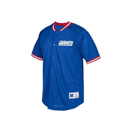 New York Giants Mitchell & Ness NFL Men's Seasoned Pro Mesh Button Front Shirt