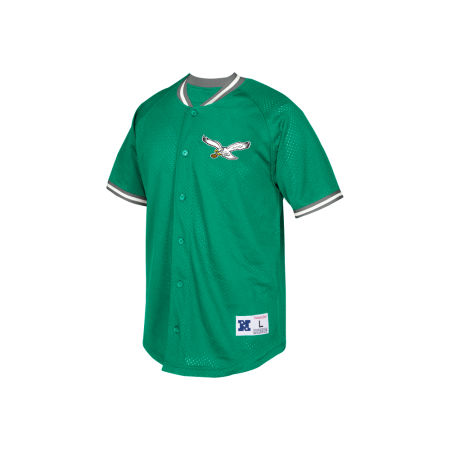 Philadelphia Eagles Mitchell & Ness NFL Men's Seasoned Pro Mesh Button Front Shirt