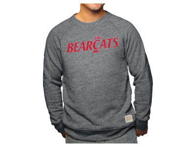 Cincinnati Bearcats Retro Brand NCAA Men's Tri-Blend Crew Sweatshirt
