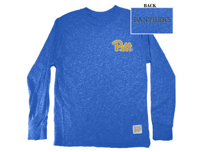 Pittsburgh Panthers Retro Brand NCAA Men's Tri-Blend Long Sleeve T-Shirt