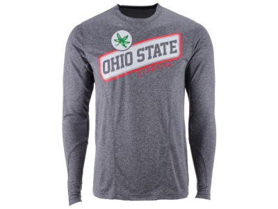 Ohio State Buckeyes NCAA Men's Buckeye Slant Poly Long Sleeve T-Shirt