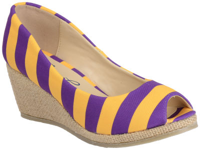LSU Tigers NCAA Stripe Wedges