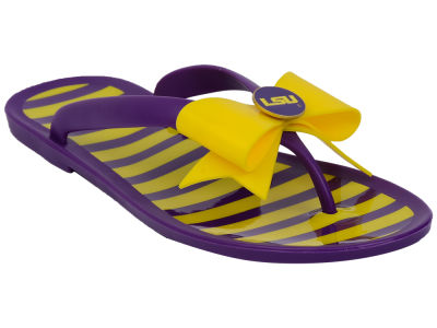 LSU Tigers NCAA Stripe Flip Flops