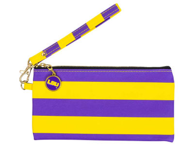 LSU Tigers NCAA Stripe Wristlet
