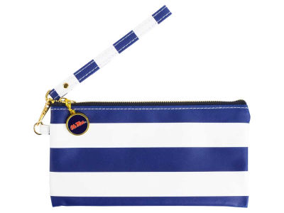Ole Miss Rebels NCAA Stripe Wristlet
