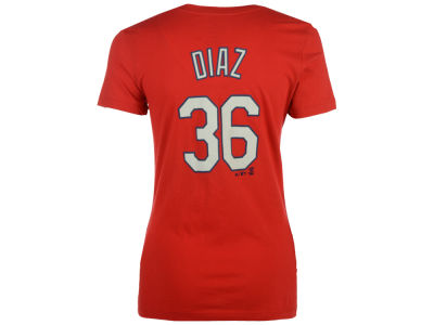 St. Louis Cardinals Aledmys Díaz Majestic MLB Women's Crew Player T-Shirt