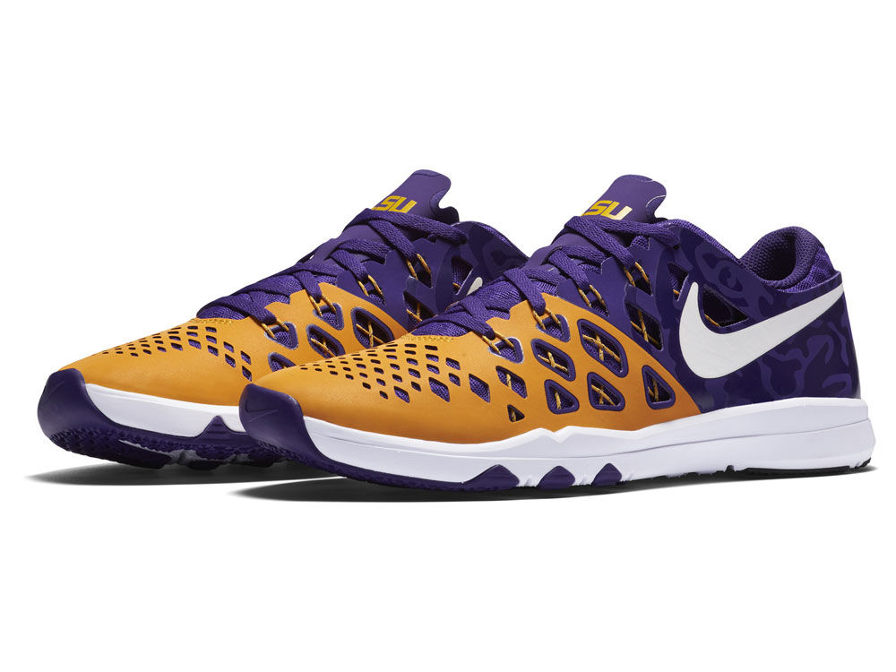 6ef4a592f7560a LSU Tigers Nike NCAA Train Speed 4.0 AMP Week Zero Training Shoes ...
