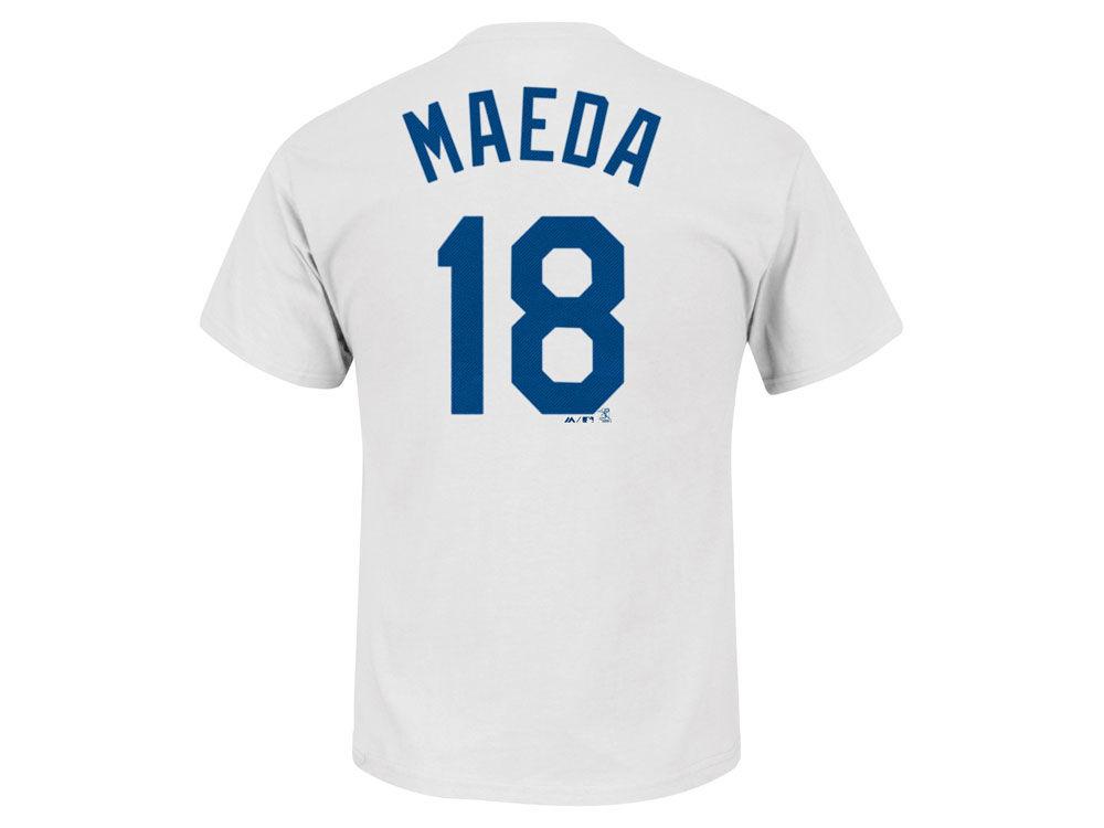 e5605687a Los Angeles Dodgers Kenta Maeda Majestic MLB Men's Official Player T-Shirt  | lids.com