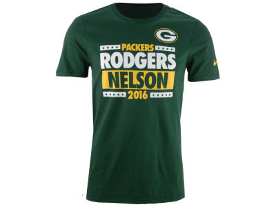 Green Bay Packers RODGERS/NELSON Nike NFL Men's Election T-Shirt