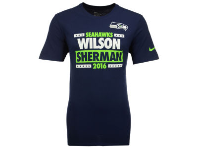 Seattle Seahawks WILSON/SHERMAN Nike NFL Men's Election T-Shirt