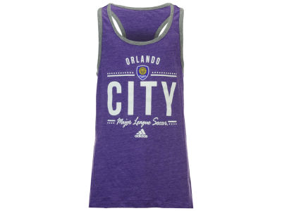 Orlando City SC adidas MLS Girls Honeycomb Lines Tank Top