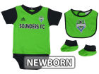 Seattle Sounders FC adidas MLS Newborn Mismatch Essentials Set Infant Apparel