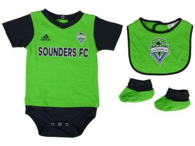 Seattle Sounders FC adidas MLS Newborn Mismatch Essentials Set