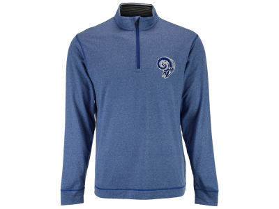 Los Angeles Rams Cutter & Buck NFL Men's Drytec Topspin Half Zip Pullover Shirt