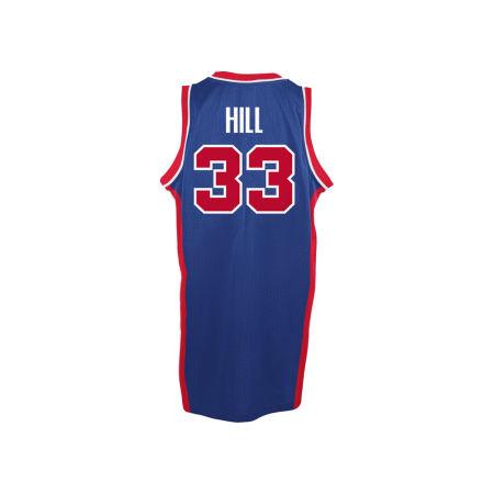 Detroit Pistons Grant Hill Adidas Originals NBA Men's Retired Player Swingman Jersey