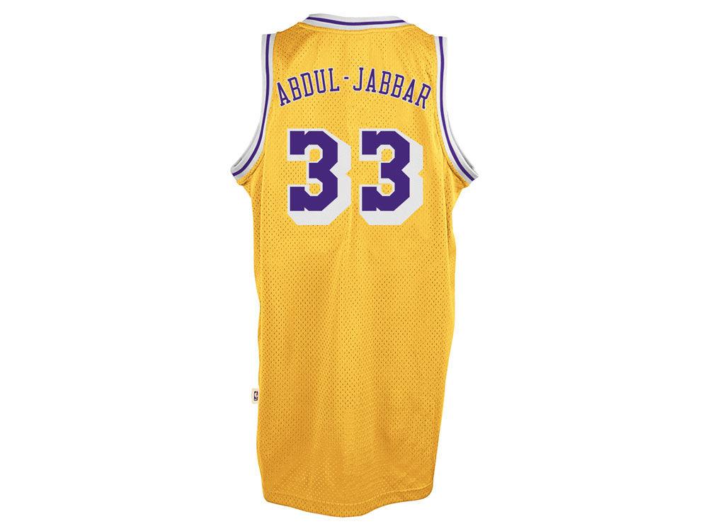 Los Angeles Lakers Kareem Abdul-Jabbar adidas NBA Men s Retired Player  Swingman Jersey  60434be29