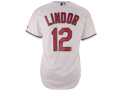 Cleveland Indians Francisco Lindor Majestic MLB Youth Player Replica Cool Base Jersey