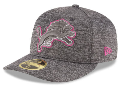 Detroit Lions New Era NFL Breast Cancer Awareness Low Crown 59FIFTY Cap