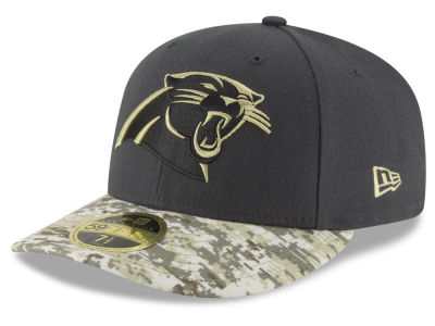 Carolina Panthers New Era NFL Salute to Service Low Crown 59FIFTY Cap