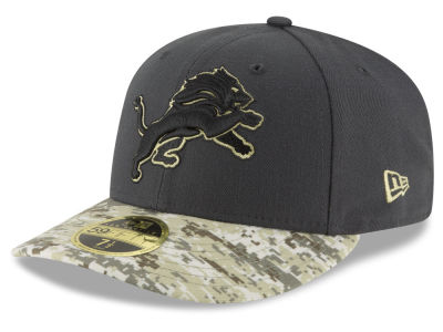 Detroit Lions New Era NFL Salute to Service Low Crown 59FIFTY Cap